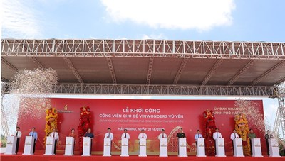 Thủ tướng bấm nút khởi công dự án tỷ đô công viên chủ đề VinWonders Vũ Yên