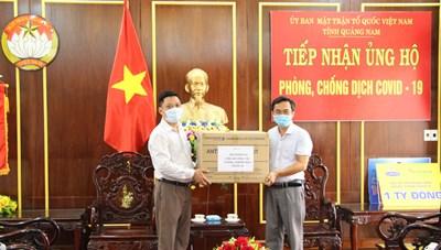 Mặt trận Quảng Nam tiếp nhận các vật tư y tế phòng, chống dịch Covid-19