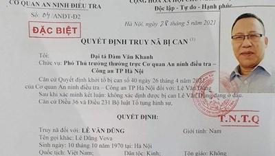 Hà Nội: Truy nã đặc biệt Lê Dũng Vova