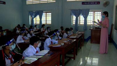 Cà Mau: Học sinh học trực tiếp tại trường phải đảm bảo những tiêu chí gì?