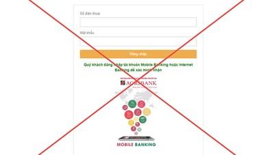 Agribank cảnh báo các trang điện tử giả mạo lừa đảo khách hàng