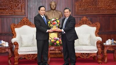 Chủ tịch Trần Thanh Mẫn gửi thư chúc mừng Ủy ban Trung ương Mặt trận Lào xây dựng đất nước