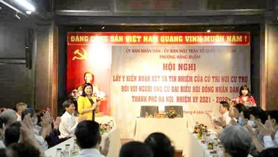 Bà Nguyễn Lan Hương được tín nhiệm ứng cử đại biểu HĐND TP Hà Nội