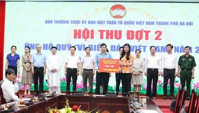 Hà Nội: Hơn 35,7 tỷ đồng ủng hộ Quỹ 'Vì biển đảo Việt Nam'