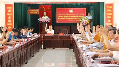 Thái Nguyên: Không đưa 7 người vào danh sách ứng cử ĐBQH