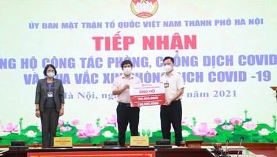 Hà Nội: Tiếp nhận hơn 2 tỷ đồng ủng hộ công tác phòng dịch