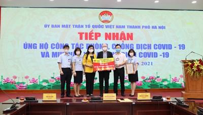 Hà Nội: Tiếp nhận trên 3,5 tỷ đồng ủng hộ phòng chống dịch