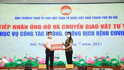 Hà Nội: Tiếp nhận hơn 1,6 tỷ đồng ủng hộ công tác phòng, chống dịch Covid - 19