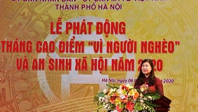 """Hà Nội phát động Tháng cao điểm """"Vì người nghèo"""" và an sinh xã hội năm 2020"""