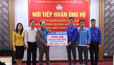 Bắc Giang: 10 tỷ ủng hộ đồng bào miền Trung