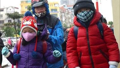 Hải Phòng: Học sinh được nghỉ học khi nhiệt độ xuống dưới 7 đến 10 độ C