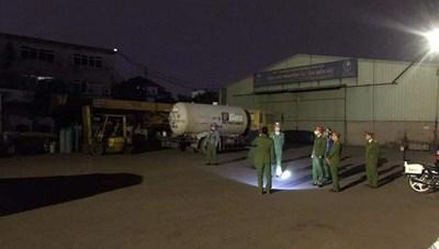 Hải Phòng: Bắt vụ sang chiết ga trái phép tại cảng Lê Quốc