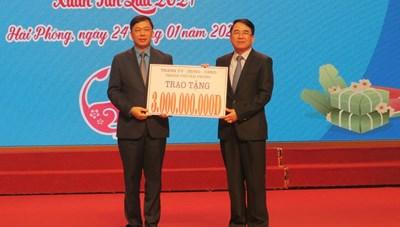 Hải Phòng: Hơn 6 tỷ đồng tặng công nhân nghèo đón Tết