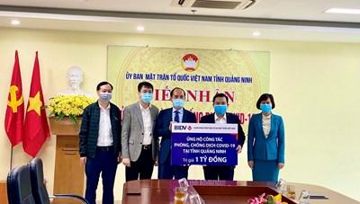 BIDV ủng hộ tỉnh Quảng Ninh 1 tỷ đồng phòng, chống dịch Covid-19