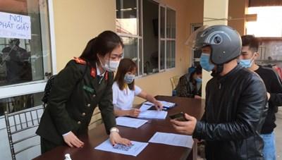Hải Phòng: Khai báo y tế điện tử tại các chốt kiểm soát dịch