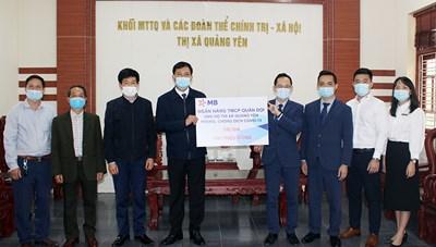 Quảng Yên: Tiếp nhận 100 triệu đồng ủng hộ công tác phòng, chống dịch Covid-19