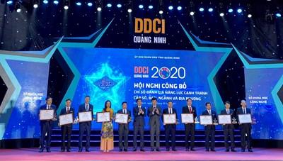Quảng Ninh: TP Cẩm Phả và BQL Khu Kinh tế dẫn đầu bảng xếp hạng DDCI 2020