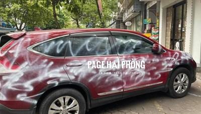 Hải Phòng: Điều tra vụ xe Honda CR-V bị xịt sơn