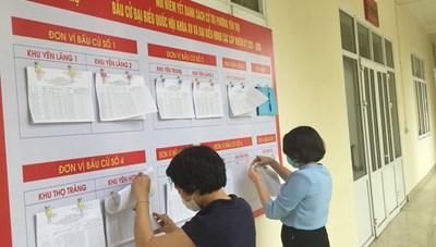 Quảng Ninh tiến hành niêm yết danh sách cử tri