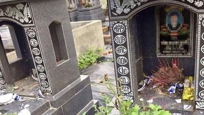 Hải Phòng: Nhiều ngôi mộ tại nghĩa trang xã Thắng Thủy bị phá hoại