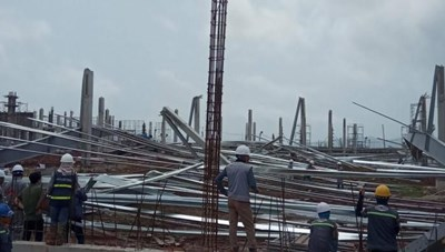 Quảng Ninh: Công bố nguyên nhân ban đầu gây sập nhà xưởng 15.000 m2