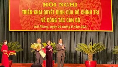 Bộ Chính trị phân công ông Trần Lưu Quang làm Bí thư Thành ủy Hải Phòng