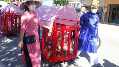 Quảng Ninh: Đặc sắc tục thi 'Ông Voi' tại lễ hội đình Trà Cổ
