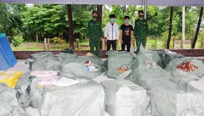 Quảng Ninh: Bắt giữ bè vận chuyển số lượng lớn thực phẩm không rõ nguồn gốc