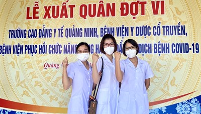 500 y bác sĩ Quảng Ninh xuất quân hỗ trợ Hà Nội chống dịch