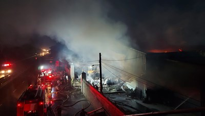 Hải Phòng: Cháy xưởng sản xuất vàng mã