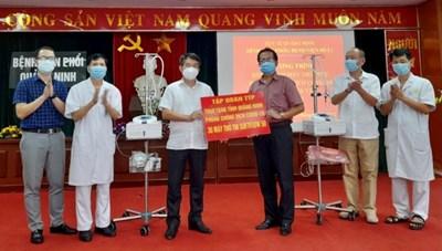 Quảng Ninh tiếp nhân 30 máy thở ủng hộ phòng, chống dịch Covid-19