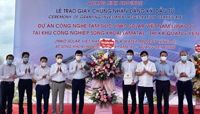 Quảng Ninh: Trao giấy chứng nhận đăng ký đầu tư dự án hơn 365 triệu USD