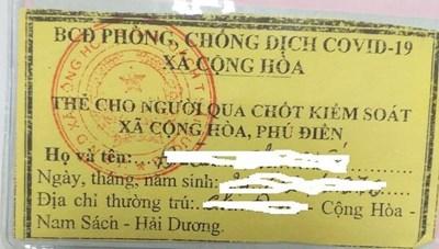 Hải Dương: Làm rõ việc 'thu tiền cấp thẻ qua chốt kiểm dịch'