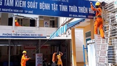 Thừa Thiên – Huế: Giảm tiền điện cho các cơ sở phòng, chống dịch Covid-19
