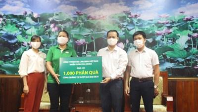 Mặt trận Quảng Trị tiếp nhận các phần quà giúp dân chống dịch