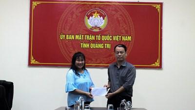 Mặt trận Quảng Trị tiếp nhận 150 triệu đồng