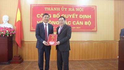 Bí thư Tây Hồ giữ chức vụ Giám đốc Sở Kế hoạch và Đầu tư Hà Nội