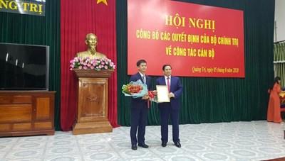 Ông Lê Quang Tùng được điều động  làm Bí thư Tỉnh ủy Quảng Trị