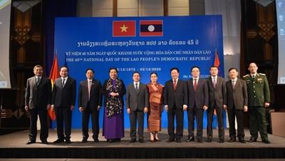 Chủ tịch Trần Thanh Mẫn dự Lễ kỷ niệm 45 năm Quốc khánh CHDCND Lào