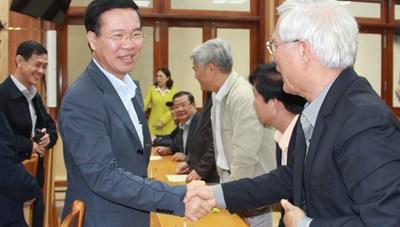 Trưởng ban Tuyên giáo Trung ương Võ Văn Thưởng thăm, chúc Tết tại Quảng Ngãi
