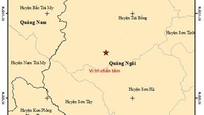 Quảng Ngãi: Liên tiếp xảy ra 2 trận động đất