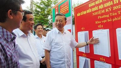 Bộ trưởng Tô Lâm kiểm tra công tác chuẩn bị bầu cử tại Quảng Nam