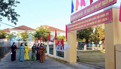 Cử tri Quảng Nam nô nức, phấn khởi đi bầu cử