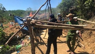 Quảng Nam: Truy quét vàng tặc tại mỏ vàng Bồng Miêu