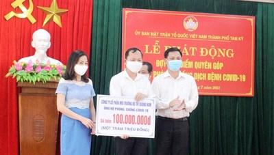 Tam Kỳ (Quảng Nam): Phát động cao điểm ủng hộ phòng, chống dịch Covid-19