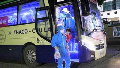 Tam Kỳ (Quảng Nam): Đón 77 công dân đầu tiên từ TP HCM trở về quê