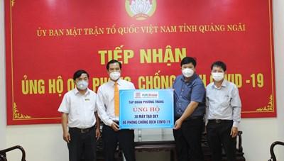 Quảng Ngãi: Tiếp nhận thêm 30 máy tạo oxy từ Tập đoàn Phương Trang