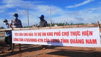 Quảng Nam: Người dân phản đối Dự án Khu phố chợ Chiên Đàn gây ngập nặng