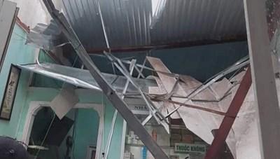 Quảng Nam: Lốc xoáy làm tốc mái nhiều nhà dân gây thiệt hại nặng