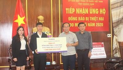 Quảng Nam: Mặt trận tỉnh tiếp nhận 1 tỷ đồng ủng hộ đồng bào bị lũ lụt